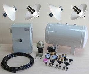 Пневмоударные обрушители (пневмообрушители) сводов сыпучих материалов, система управления виброаэраторами
