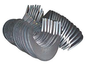 Витки, сегменты спиралей шнеков